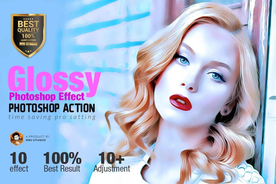 Glossy photoshop effect actions creative market baditri Image collections