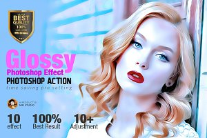 Glossy Photoshop Effect