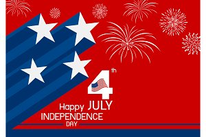4 july USA independence day design
