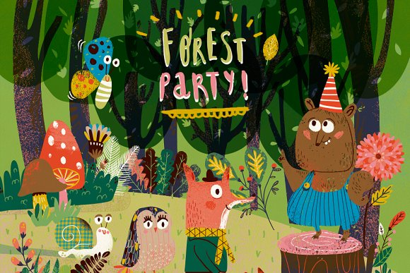 Forest Party Kit