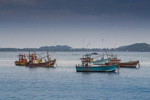 Tired fishing fleet getting back