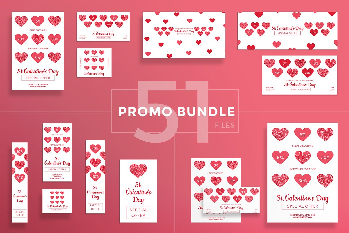 Promo Bundle | Valentine's Day in Templates - product preview 8