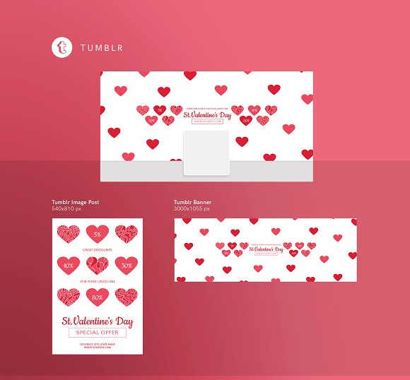 Promo Bundle | Valentine's Day in Templates - product preview 6