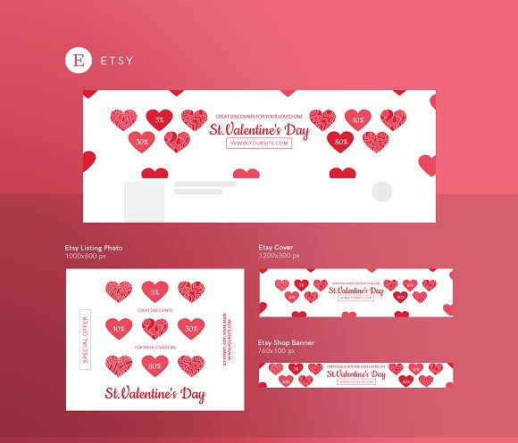 Promo Bundle | Valentine's Day in Templates - product preview 7