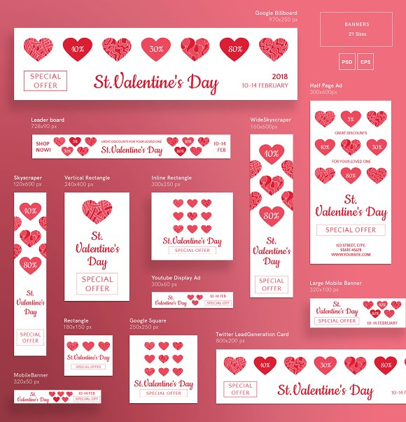 Promo Bundle | Valentine's Day in Templates - product preview 14