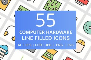 85 Computer & hardware Filled Icons