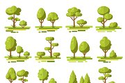 Forest Flat Elements Set