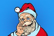 Santa Claus Comic Style Design