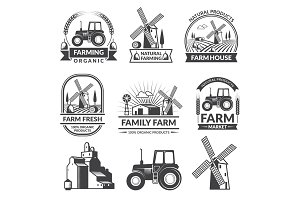 Vector set of farm logos