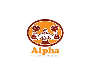 Alpha Weightlifters Gym Logo