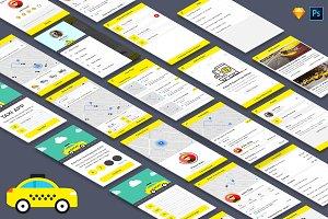 Taxi Booking App UI Kit