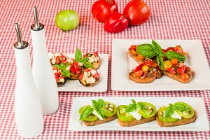 Tomato bruschetta appertizer