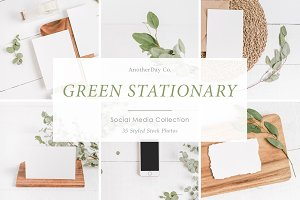 Green Stationary Styled Stock