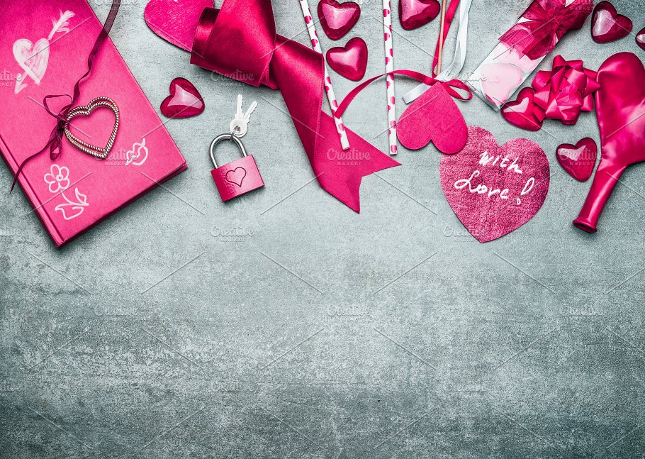 Pink Valentines Day Background Holiday Photos Creative Market