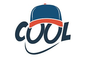 "logo ""Caption COOL with baseball cap"