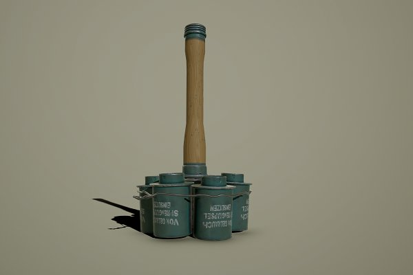 3D Weapons - German WWII M24 Stick Grenade Anti-T