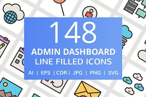 148 Admin Dashboard Filled Line Icon