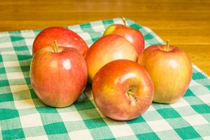 Fresh ripe Fuji apples