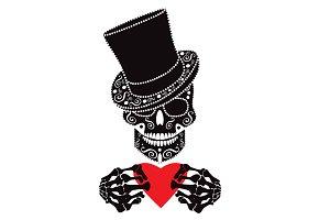 Valentine skull icon