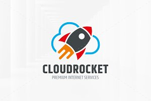 Cloud Rocket Logo Template