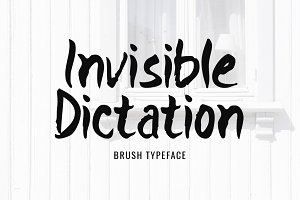 Invisible Dictation Typeface