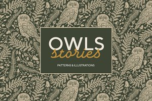 Owls graphic collection -45% OFF