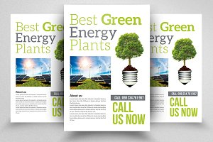 Solar Energy Psd Flyer Templates