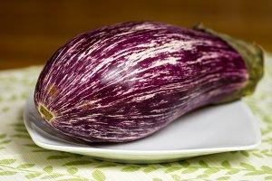 Striped purple eggplant