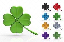 St. Patrick's Day Clover 3D