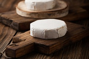 Soft camembert cheese