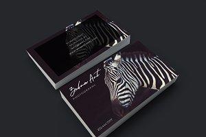 Classy Zebra art design card