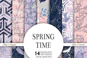 Spring Time Digital Paper