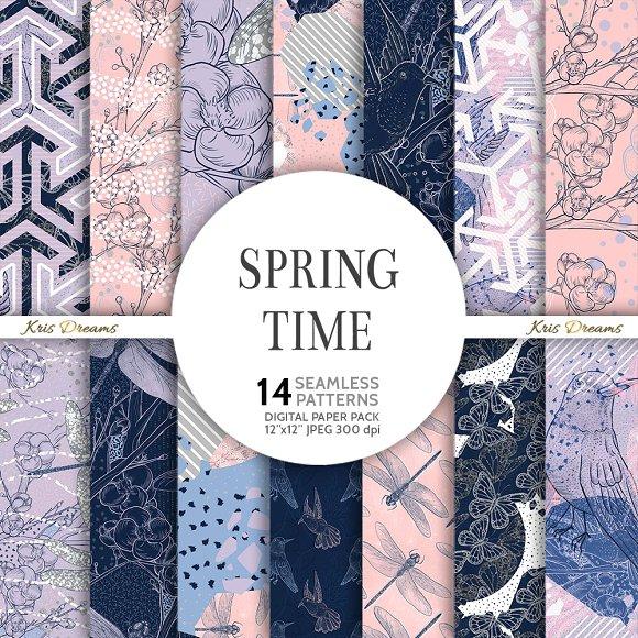 Spring Time Digital Paper