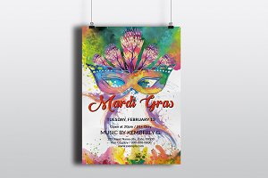 Mardi Gras Party Flyer V738