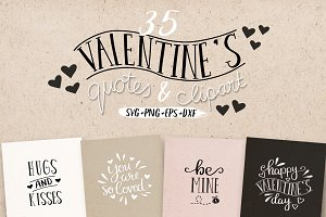 Valentine's Love Quotes SVG Bundle