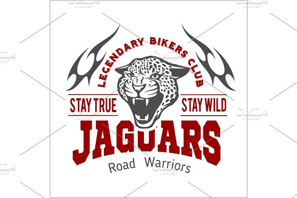 Jaguar custom motors club t-shirt vector logo on light background. Wild animals - vector set.