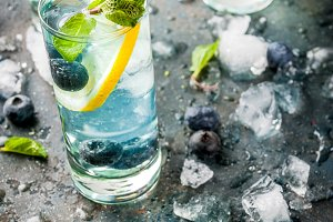 Blueberry Lemonade or mojito