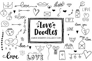 Love doodles - Clipart