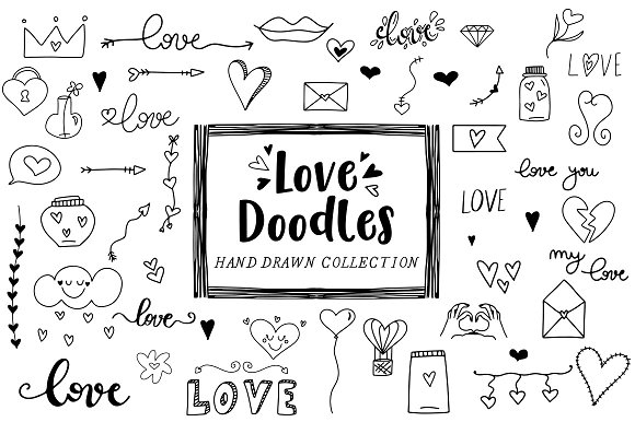 Love doodles - Clipart