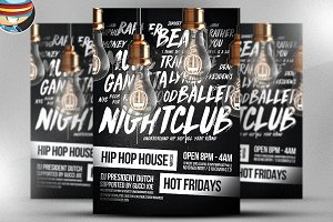 HipHop House Flyer Template