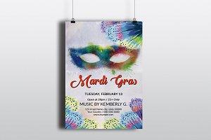 Mardi Gras / Carnival Flyer V739