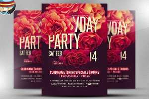 Vday Party Flyer Template