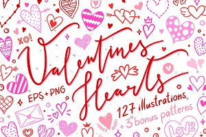 Valentines Hearts Illustrations
