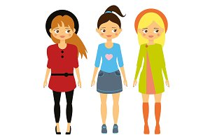 Kids fashion Beautiful cartoon girls