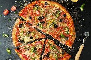 Delicious pepperoni pizza