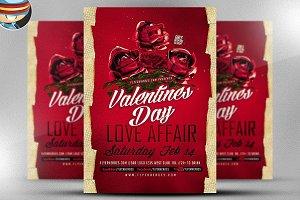 Valentines Day Love Affair Flyer