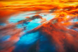 Colorful and blue dramatic sky