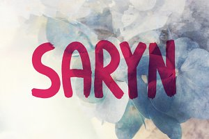Saryn Typeface