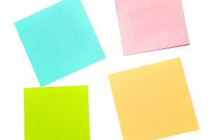 Four different color paper stickers