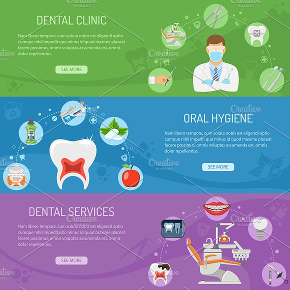 Dental Services Themes in Illustrations - product preview 5